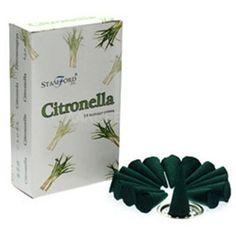 Citronella Incense Cones 15`s Box - Incense Aromatherapy