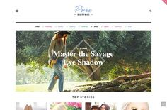 Pure lifestyle blog Wordpress Theme by bootstrapbrothers on @Graphicsauthor