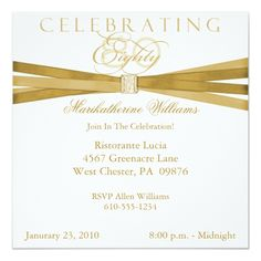 1432 best 80th birthday invitations images on pinterest invitation elegant 80th birthday party invitations filmwisefo