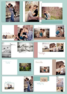 Guestbook Album: Bright Hopes - Album Template for Wedding Reception & Engagement. $25.00, via Etsy.