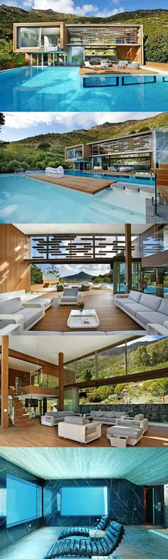 ☮️ Modern Architecture Luxurious Architecture. The architects of Metropolis Design created the relaxing Spa House located in Cape Town, South Africa. from http://www.archdaily.com... - Dream Homes