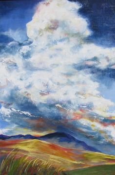 Saatchi Online Artist: Diane Fairfield; Oil, Painting Run with Clouds
