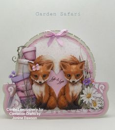 New Crafts, Hobbies And Crafts, Paper Crafts, Clay Cross, Tattered Lace Cards, Carnations, Creative Cards, Safari, Projects To Try