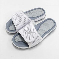 2fd3d2de126 Nike Jordan Hydro 5 V White Grey Air Mens Solarsoft Sandal Slides 820257-100  #