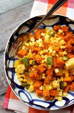 Cajun Sweet Potato Salad by eatswellwithothers #Salad #Sweet_Potato #Cajun