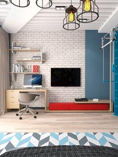 Bedroom for boy, design Vitta-group. , 2016 - Elena Ponomarenko Vitta-Group