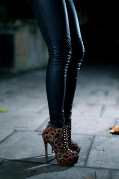 Spiked.Leopard.Booties.