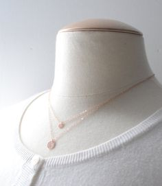 Rose gold double circle necklace  rose gold by OliveYewJewels, $44.00