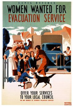Women wanted for evacuation service. Recruitment poster, WWII