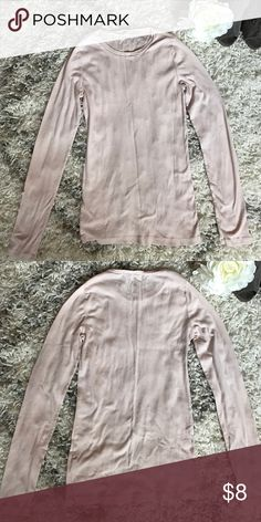 J.Crew Basic Pale Pink Long Sleeve Cotton Shirt Build up your collection of basics with this J.Crew Long Sleeve Tee. Pale Pink. Crew neck. 100% cotton. Size S. J. Crew Tops Tees - Long Sleeve