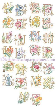 Le grand ABC Botanique / Большой алфавит Ботаника - схемы Veronique Enginger для Les brodeuses parisiennes / Парижские вышивальщицы
