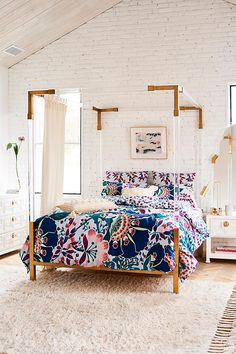 Slide View: 6: Liberty for Anthropologie Embroidered Feather Bloom Duvet