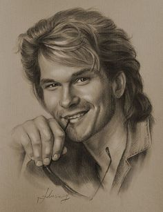 Patrick Swayze….Pencil art by Dumage