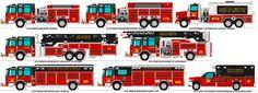 Acruse Metro Fire Dept. trucks by MisterPSYCHOPATH3001