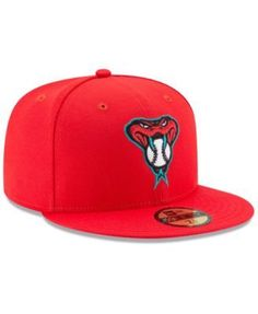 New Era Boys' Arizona Diamondbacks Players Weekend 59FIFTY Fitted Cap - Red 6 3/8