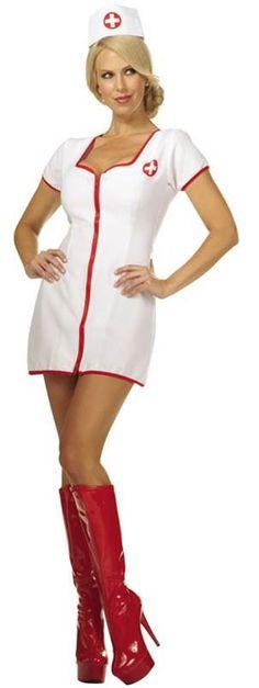 FANCY DRESS NURSES OUTFIT 2PC DRESS+HAT AV IN SM,M,L,XL