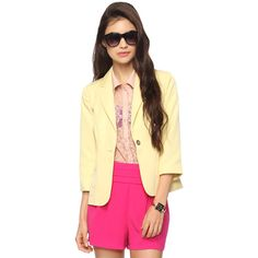 3/4 Sleeve Blazer found on Polyvore - here's one at Forever 21