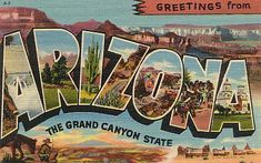 Historic U. S. Highway 66 Through Arizona on Vintage Postcards