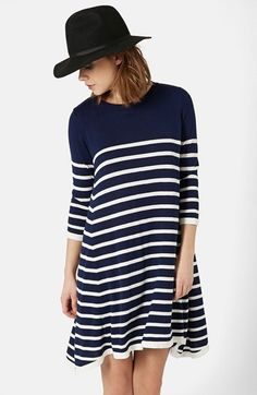 Topshop Stripe Swing Dress available at #Nordstrom