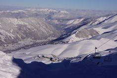 #haut de @Peyragudes avec d'excellentes conditions : #neige fraiche, #ciel bleu et du #froid