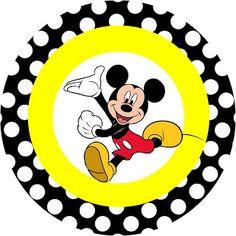 Mickey Tradicional - Kit Completo com molduras para convites, rótulos para guloseimas, lembrancinhas e imagens!