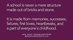"""""""A school is never a mere structure of bricks and stones. It is made from memories, successes, failures, first loves, heartbreaks, and a party of everyone's childhood.""""  ~ Jaya Yadav  'My school years – a keepsake' is a great place to record and capture your child's school memories.   #myschoolyears #myskooljare #keepsake #journal #school #memories #writeitdown #giftidea Poem Quotes, Poems, School Memories, Brick And Stone, Write It Down, I School, Bricks, Making Out, First Love"""