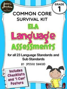 1st Grade Common Core Language Assessment