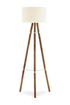Natural Wood Tripod Floor Lamp, Alfred | Tripod, Floor lamp and Woods