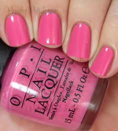OPI Suzi Has A Swede Tooth, a gorgeous medium pink creme. Makes you crave vacation in a warm climate. Opi Nail Colors, Pretty Nail Colors, Pretty Nails, Opi Nail Polish, Opi Nails, Nail Polishes, Nail Desighns, Manicure And Pedicure, Pedicures