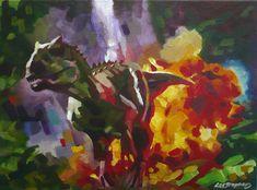 Indominus Rex / Jurassic World acrylic painting on canvas Original movie art by L M Stephens by LornaMarieArts on Etsy Jurassic World Chris Pratt, Jurassic World Fallen Kingdom, Jurassic Park World, Dinosaur Images, Dinosaur Art, Jurassic Movies, Indominus Rex, The Lost World, Original Movie