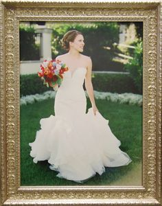 Beautiful Outdoor Bridal Portrait In An Ornate Silver Frame Wedding