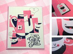 Esther Aarts. Hello!Lucky letterpress valentine.
