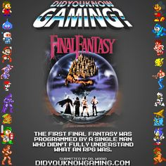Final Fantasy.  http://squarecave.blogspot.co.uk/2012/06/nasir-gebelli-programming-god.html