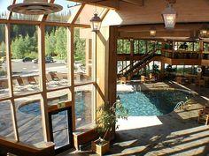 Indoor Outdoor pool. Dream house