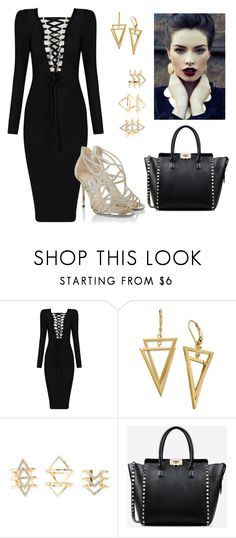 """""""Night"""" by sofiaamayita on Polyvore featuring moda, Charlotte Russe, Valentino y Jimmy Choo"""