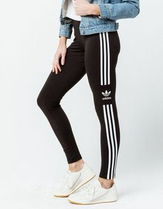 edc1eace2199aa ADIDAS Trefoil Stripe Womens Leggings - BLACK - 335129100