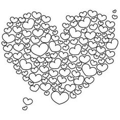 A Giant Heart Shaped Cloud on Valentine's Day Coloring Page