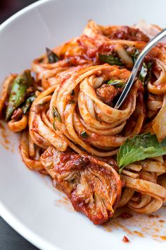 Italian Sausage Linguini   thecozyapron.com