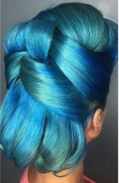 Blue retro dyed vintage rockabilly hair color @1000orbust... - http://www.oroscopointernazionaleblog.com/blue-retro-dyed-vintage-rockabilly-hair-color-1000orbust/