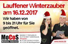 Wir begleiten den Lauffener Winterzauber am 16.12.2017 für unsere Kunden mit durchgehender Öffnungszeit von 9 Uhr bis 21 Uhr! Natürlich haben wir ein paar Überraschungen, gute Angebote, Punsch und Glühwein für Euch. #Winterzauber #Lauffen #Weihnachten