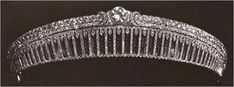 The Yusupov Rock Crystal Tiara(Russian, not seen since 1925) Made of carved Rock Crystal(white quartz), with platinum and diamonds. The center has a perfect 3.66 carat round diamond, made by Cartier. Given by Prince Felix Yusupov to his bride Irina Alexandrovna(niece of Nicholas ll) in 1914. They fled Russia and were not able to take it with them...