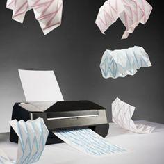 Hydro-Fold by ECAL/Christophe Guberan. Christophe Guberan has created an inkjet printer that can produce self folding origami.