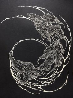 Kiri Ken creates paper cutting art that mimics the precisionand fluidity of intricate ink drawings.