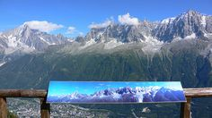 View from the terrace at Refuge de Bellechat nr Chamonix