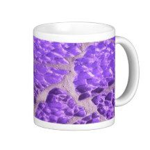 Festive Chic Shiny Purple Glitter Stones Coffee Mug