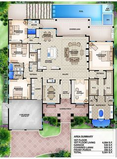 Loving the layout - take the garage to a 3 stall and maybe a Bonus room above th. - Loving the layout – take the garage to a 3 stall and maybe a Bonus room above the garage. Pool House Plans, House Layout Plans, Craftsman House Plans, New House Plans, Dream House Plans, Small House Plans, House Layouts, Dream Houses, House Blueprints