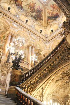 Climb The Stairs In The Palais Garnier, Paris Opera House photo ideas from Amazing Stairs Ideas Baroque Architecture, Beautiful Architecture, Beautiful Buildings, Beautiful Places, Paris Opera House, Opera Garnier Paris, Gold Aesthetic, Princess Aesthetic, Renaissance Art