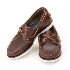 Women's Boat Shoes - Brown Chromexcel