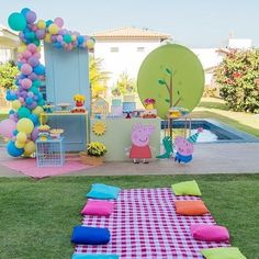 Peppa Pig Birthday Decorations, Peppa Pig Birthday Cake, Instagram Party, 4th Birthday Parties, 3rd Birthday, Birthday Celebration, Peppa Pig Balloons, Peppa Pig Party Supplies, Cumple Peppa Pig