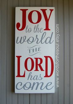 Joy to the World Wooden Sign Wood Sign The Lord Has Come Christmas Typography - Futura Home Decorating Merry Little Christmas, Christmas Love, Christmas Signs, Christmas Projects, Winter Christmas, All Things Christmas, Holiday Crafts, Holiday Fun, Christmas Decorations
